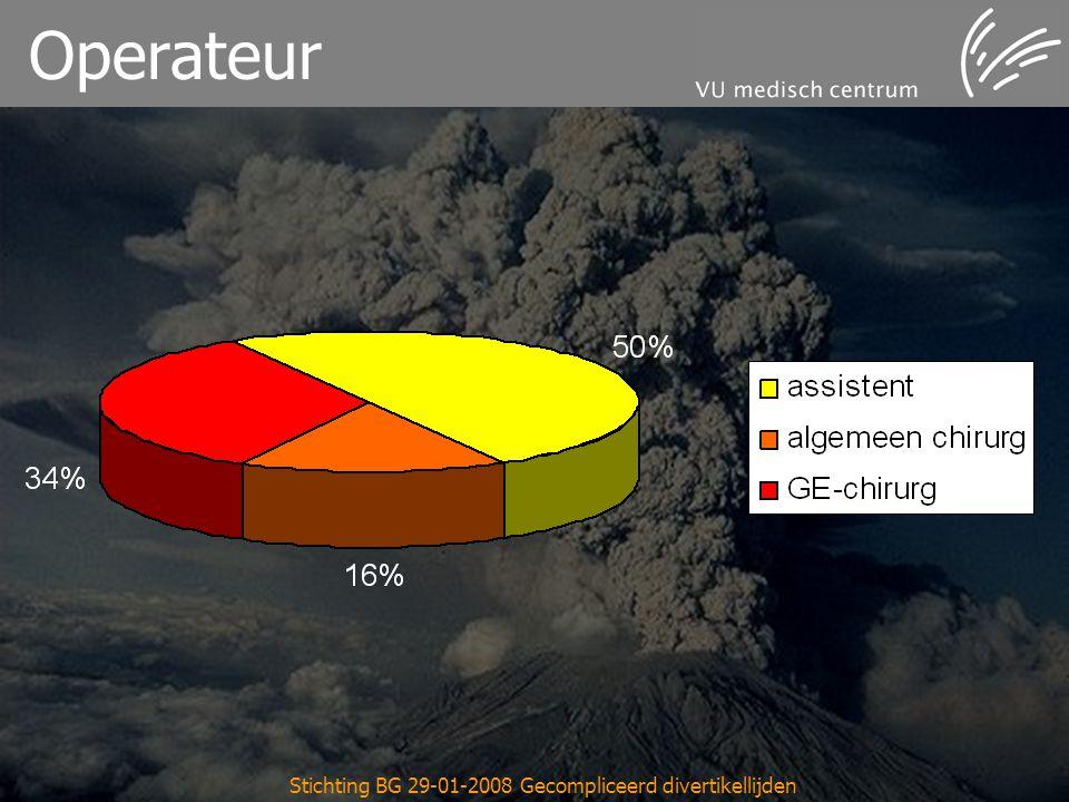Stichting BG 29-01-2008 Gecompliceerd divertikellijden Operateur