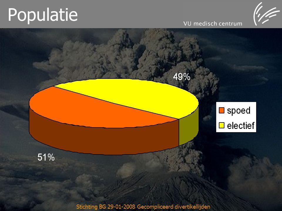 Stichting BG 29-01-2008 Gecompliceerd divertikellijden Populatie