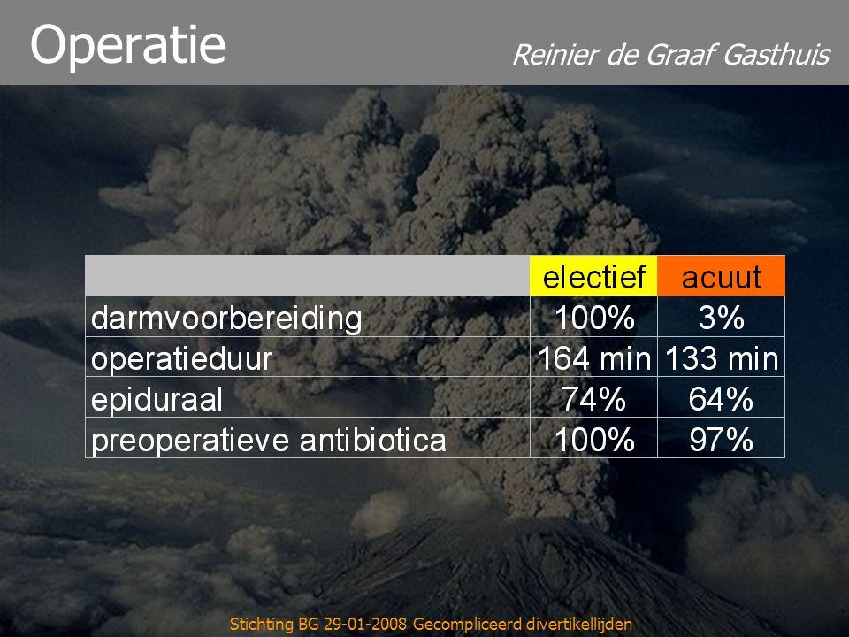 Reinier de Graaf Gasthuis Stichting BG 29-01-2008 Gecompliceerd divertikellijden Operatie