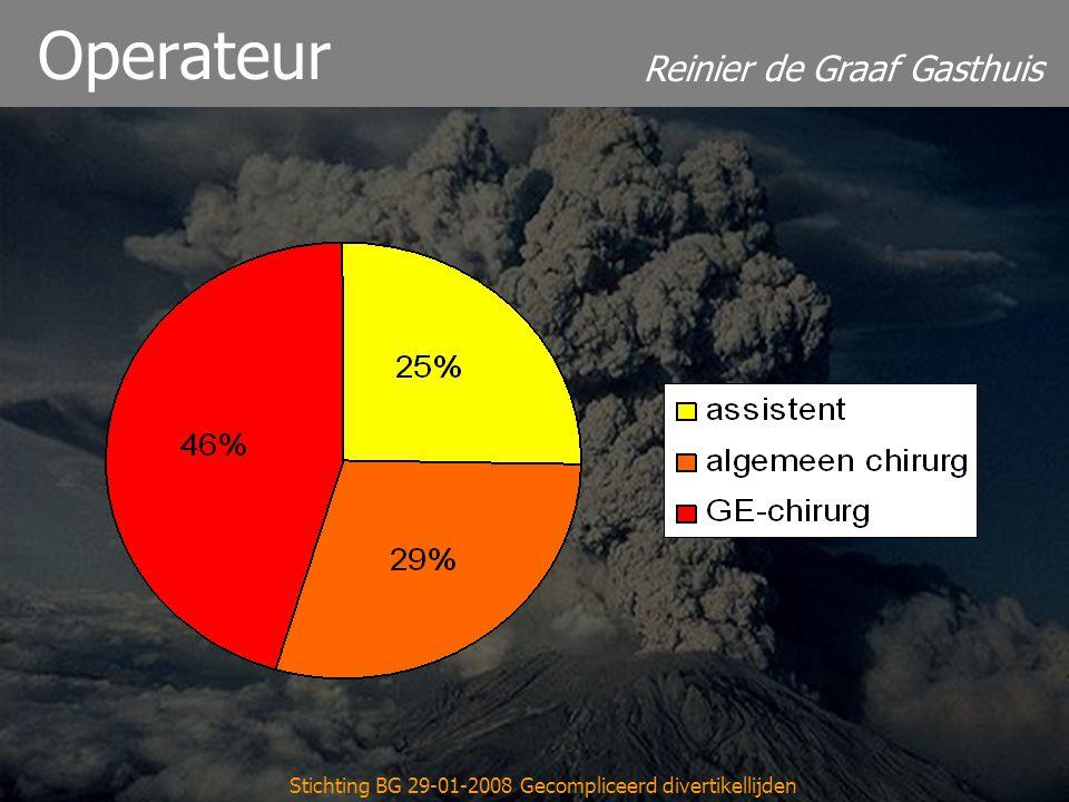 Reinier de Graaf Gasthuis Stichting BG 29-01-2008 Gecompliceerd divertikellijden Operateur