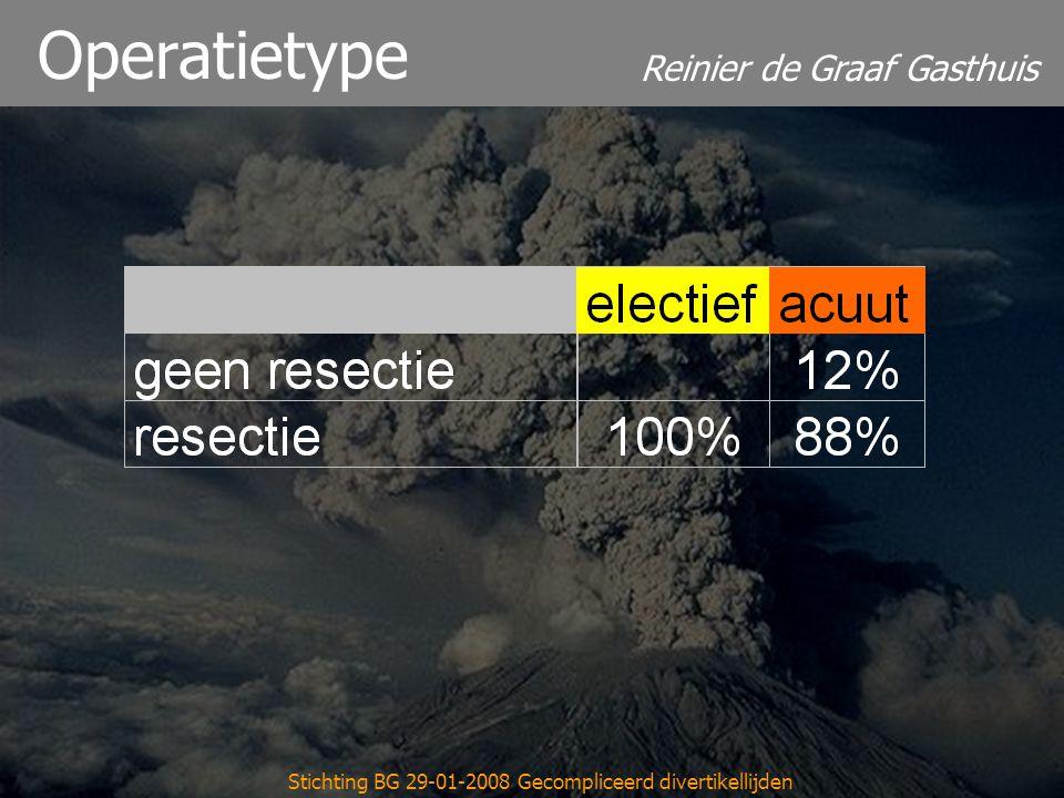 Reinier de Graaf Gasthuis Stichting BG 29-01-2008 Gecompliceerd divertikellijden Operatietype