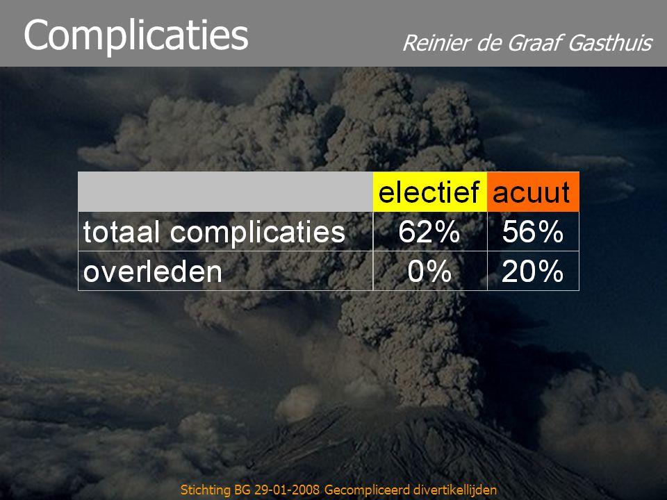 Reinier de Graaf Gasthuis Stichting BG 29-01-2008 Gecompliceerd divertikellijden IC-duur Electief Acuut