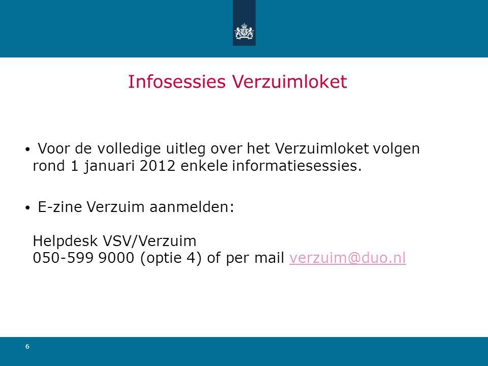6 Infosessies Verzuimloket Voor de volledige uitleg over het Verzuimloket volgen rond 1 januari 2012 enkele informatiesessies. E-zine Verzuim aanmelde