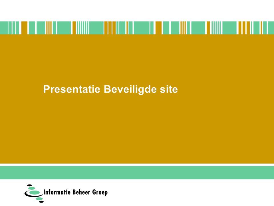 Presentatie Beveiligde site