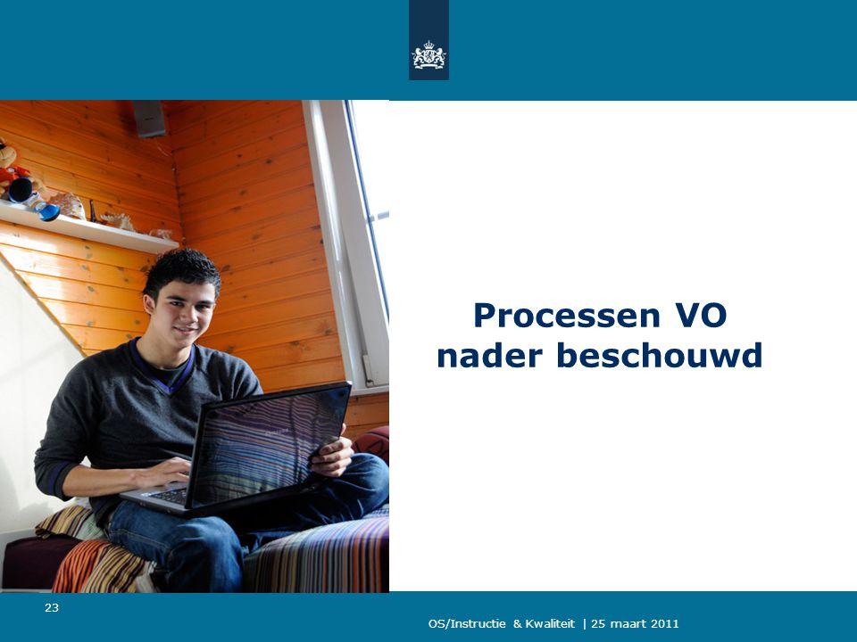 OS/Instructie & Kwaliteit | 25 maart 2011 23 Processen VO nader beschouwd