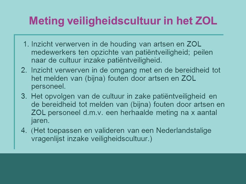 Meting veiligheidscultuur in het ZOL 1.