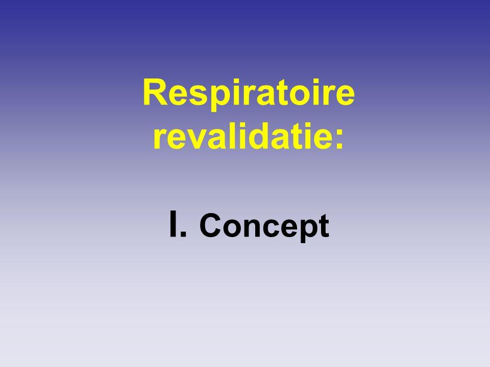 Respiratoire revalidatie: I. Concept