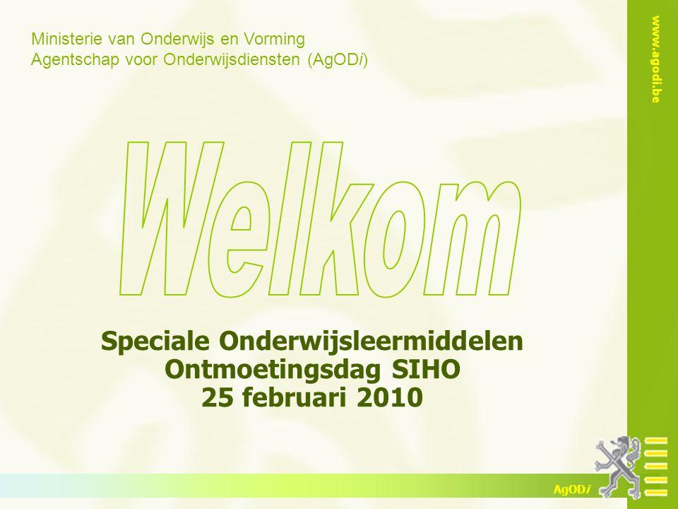 www.agodi.be AgODi Speciale Onderwijsleermiddelen - 25/02/2010 2 2 Overzicht inhoud Speciale Onderwijsleermiddelen (SOL) 1.Voorstelling 2.Inleiding 3.Regelgeving 4.SOL in hoger onderwijs 5.Enkele cijfers 6.Contact