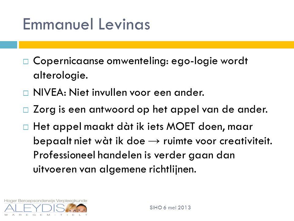 Emmanuel Levinas  Copernicaanse omwenteling: ego-logie wordt alterologie.