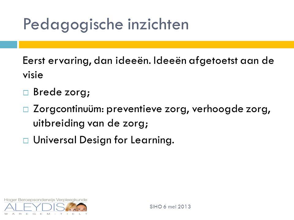 Pedagogische inzichten Eerst ervaring, dan ideeën.