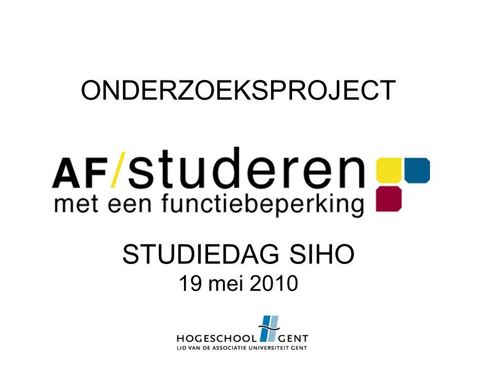 ONDERZOEKSPROJECT STUDIEDAG SIHO 19 mei 2010