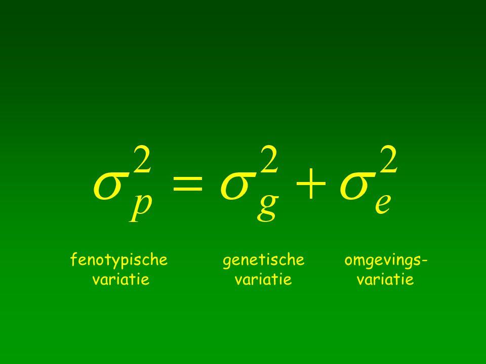 fenotypische variatie genetische variatie omgevings- variatie