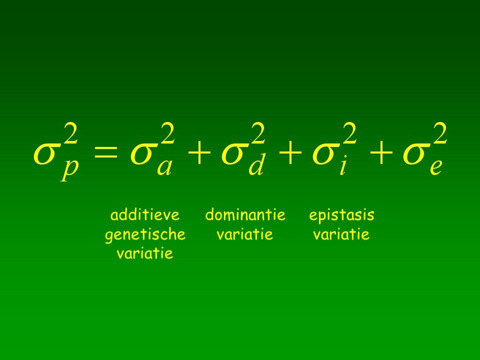 additieve genetische variatie dominantie variatie epistasis variatie