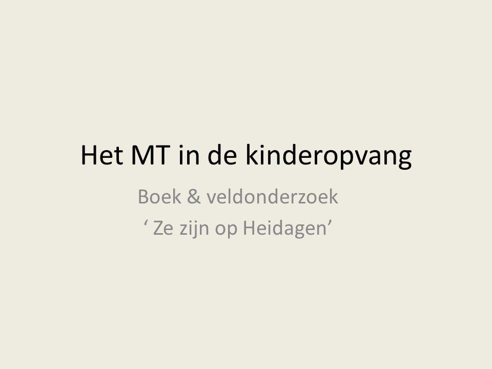 Het MT in de kinderopvang Boek & veldonderzoek ' Ze zijn op Heidagen'