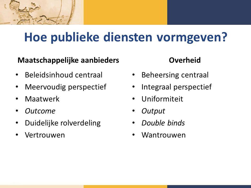 Hoe publieke diensten vormgeven.