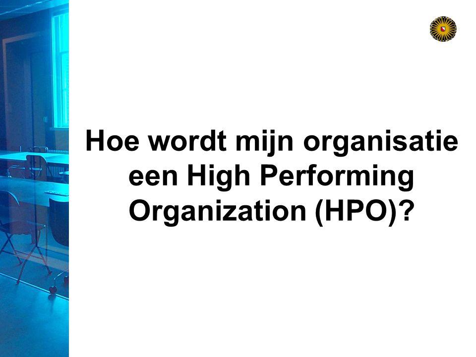 Hoe wordt mijn organisatie een High Performing Organization (HPO)