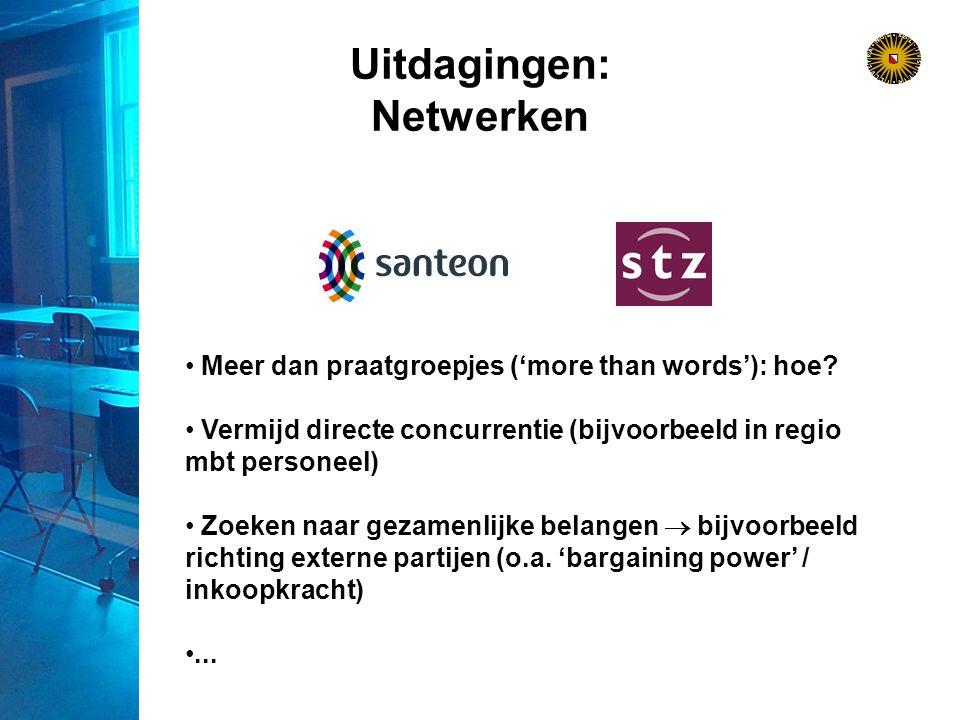 Uitdagingen: Netwerken Meer dan praatgroepjes ('more than words'): hoe.