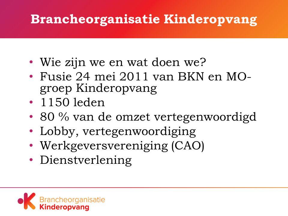 Brancheorganisatie Kinderopvang Wie zijn we en wat doen we.