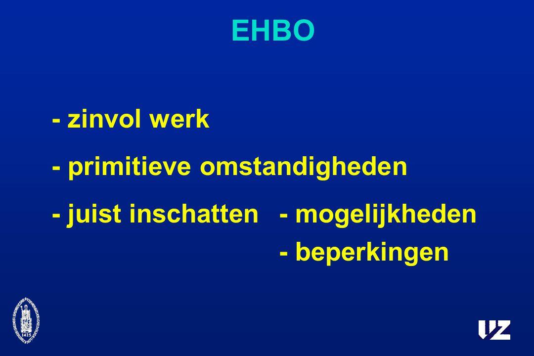EHBO - zinvol werk - primitieve omstandigheden - juist inschatten - mogelijkheden - beperkingen
