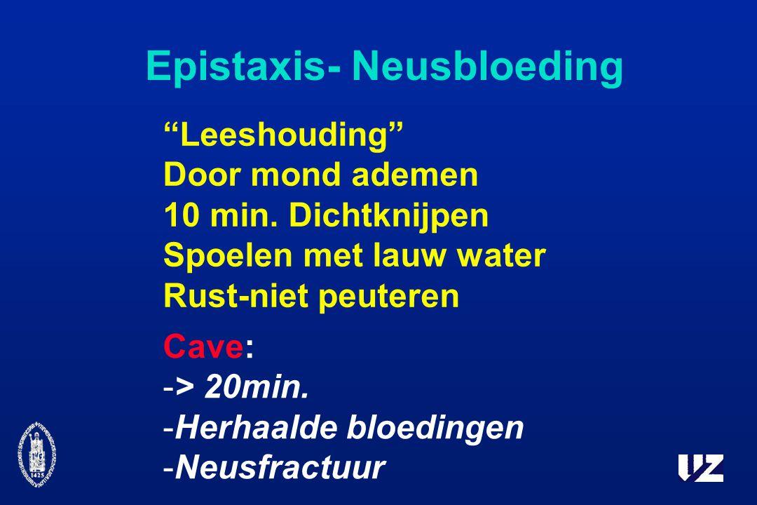 Epistaxis- Neusbloeding Leeshouding Door mond ademen 10 min.