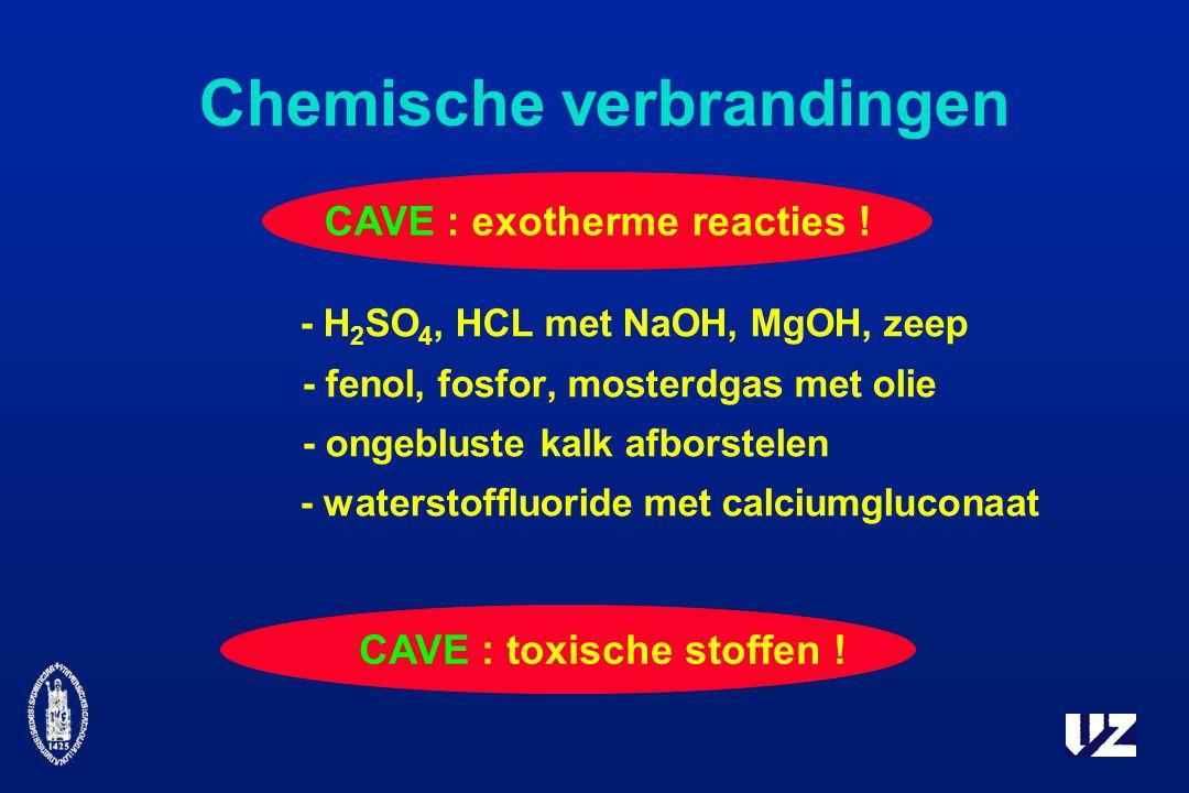 CAVE : exotherme reacties .CAVE : toxische stoffen .