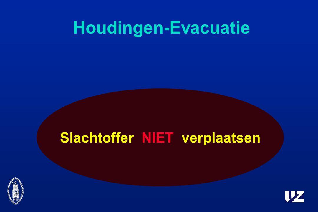 Houdingen-Evacuatie Slachtoffer NIET verplaatsen