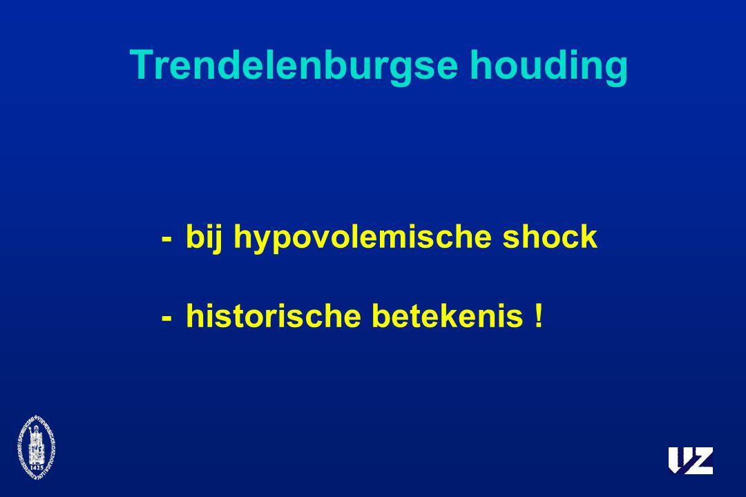 Trendelenburgse houding -bij hypovolemische shock -historische betekenis !