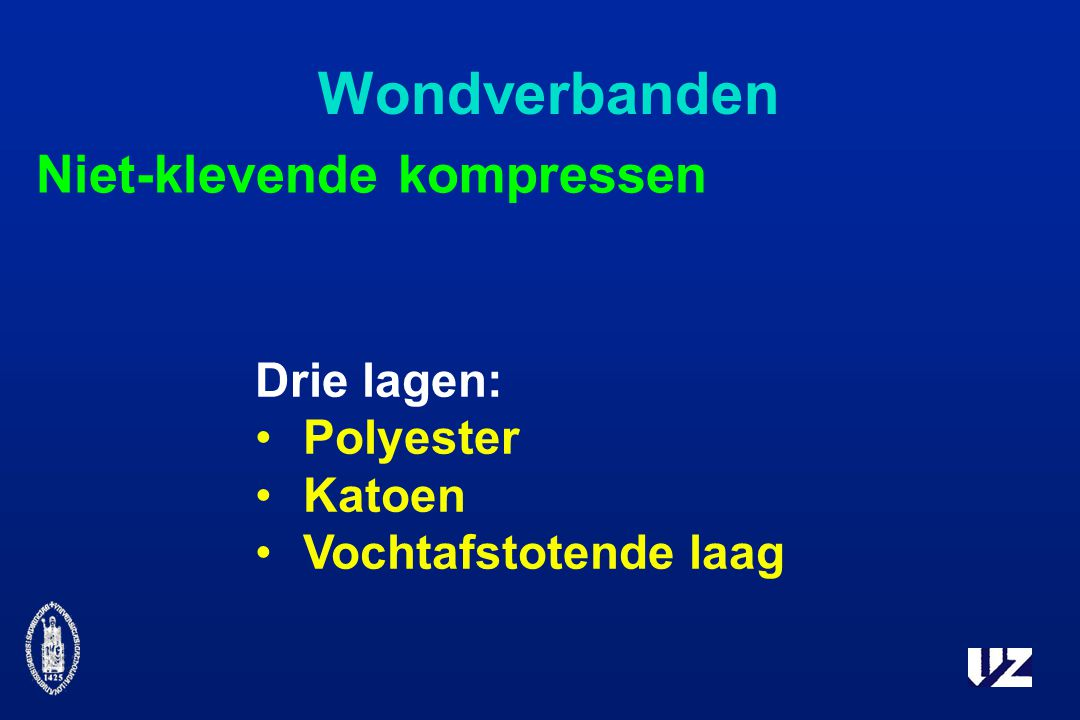 Wondverbanden Drie lagen: Polyester Katoen Vochtafstotende laag Niet-klevende kompressen