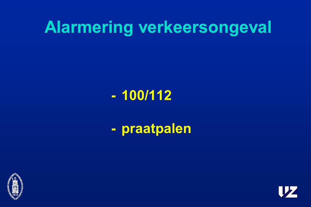 Alarmering verkeersongeval -100/112 -praatpalen