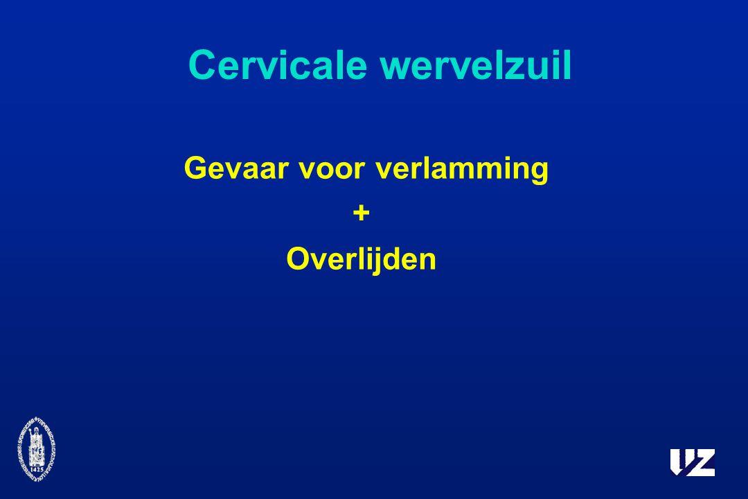 Cervicale wervelzuil Gevaar voor verlamming + Overlijden