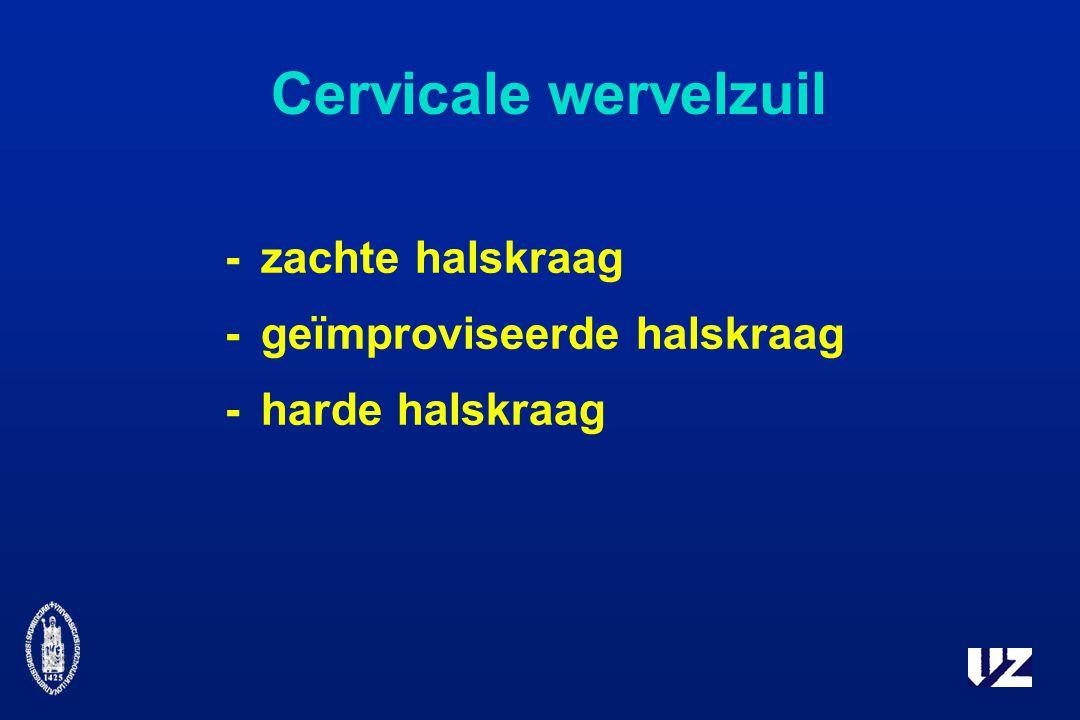 Cervicale wervelzuil -zachte halskraag -geïmproviseerde halskraag -harde halskraag