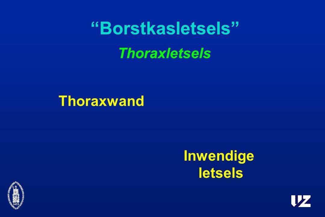 Borstkasletsels Thoraxletsels Thoraxwand Inwendige letsels