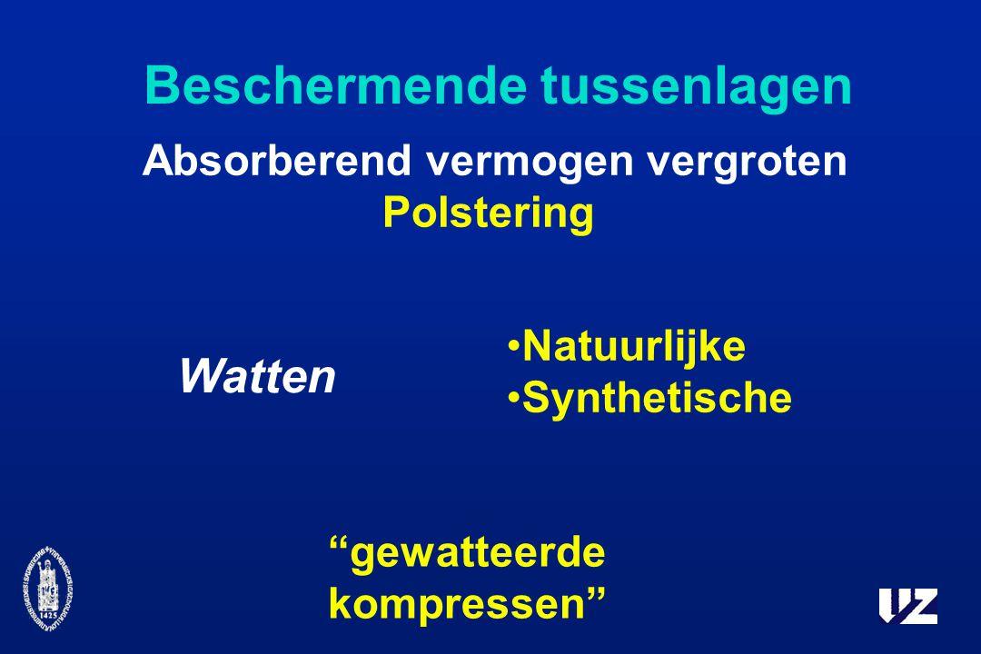 Beschermende tussenlagen Absorberend vermogen vergroten Polstering Watten gewatteerde kompressen Natuurlijke Synthetische