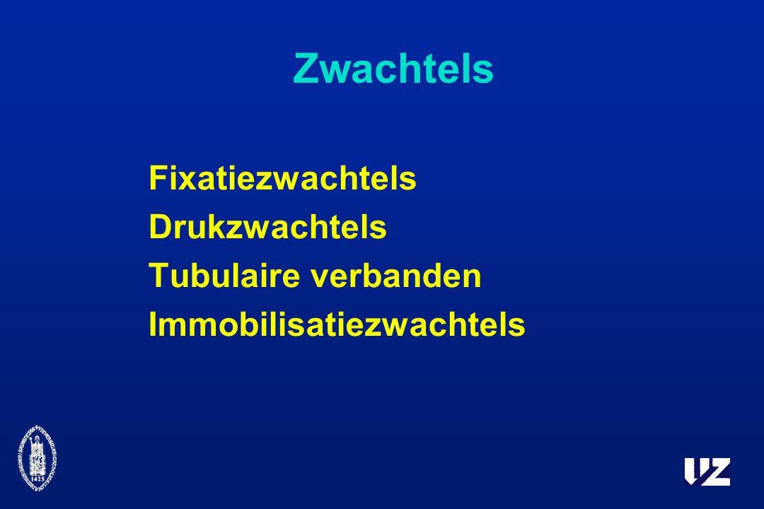 Zwachtels Fixatiezwachtels Drukzwachtels Tubulaire verbanden Immobilisatiezwachtels