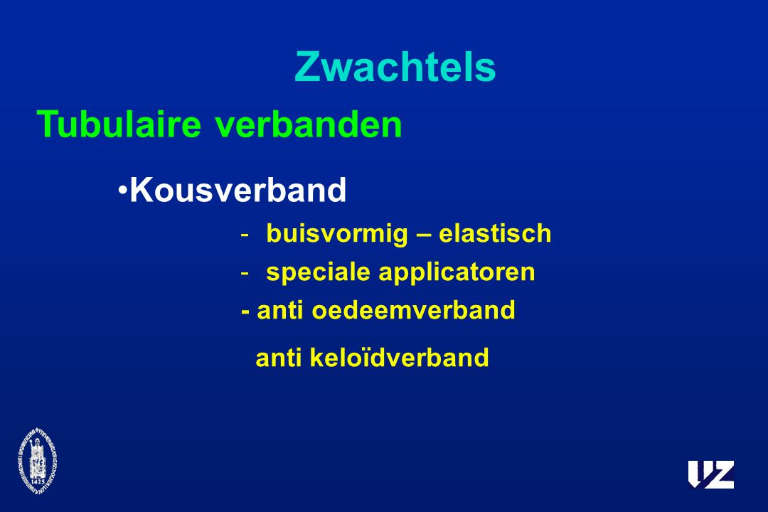 Zwachtels Tubulaire verbanden Kousverband -buisvormig – elastisch -speciale applicatoren - anti oedeemverband anti keloïdverband