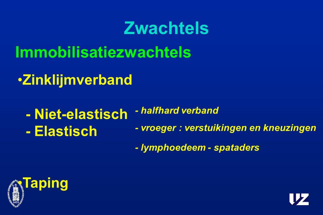 Zwachtels Zinklijmverband - Niet-elastisch - Elastisch Taping Immobilisatiezwachtels - halfhard verband - vroeger : verstuikingen en kneuzingen - lymphoedeem - spataders