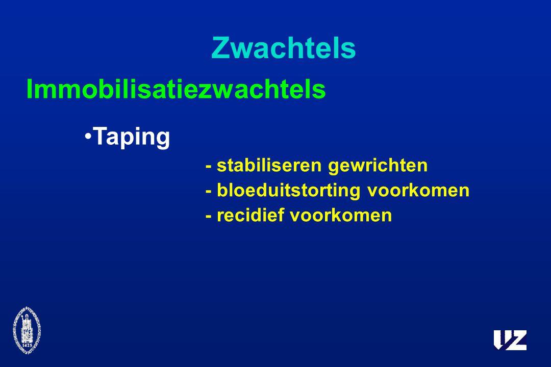 Zwachtels Taping Immobilisatiezwachtels - stabiliseren gewrichten - bloeduitstorting voorkomen - recidief voorkomen