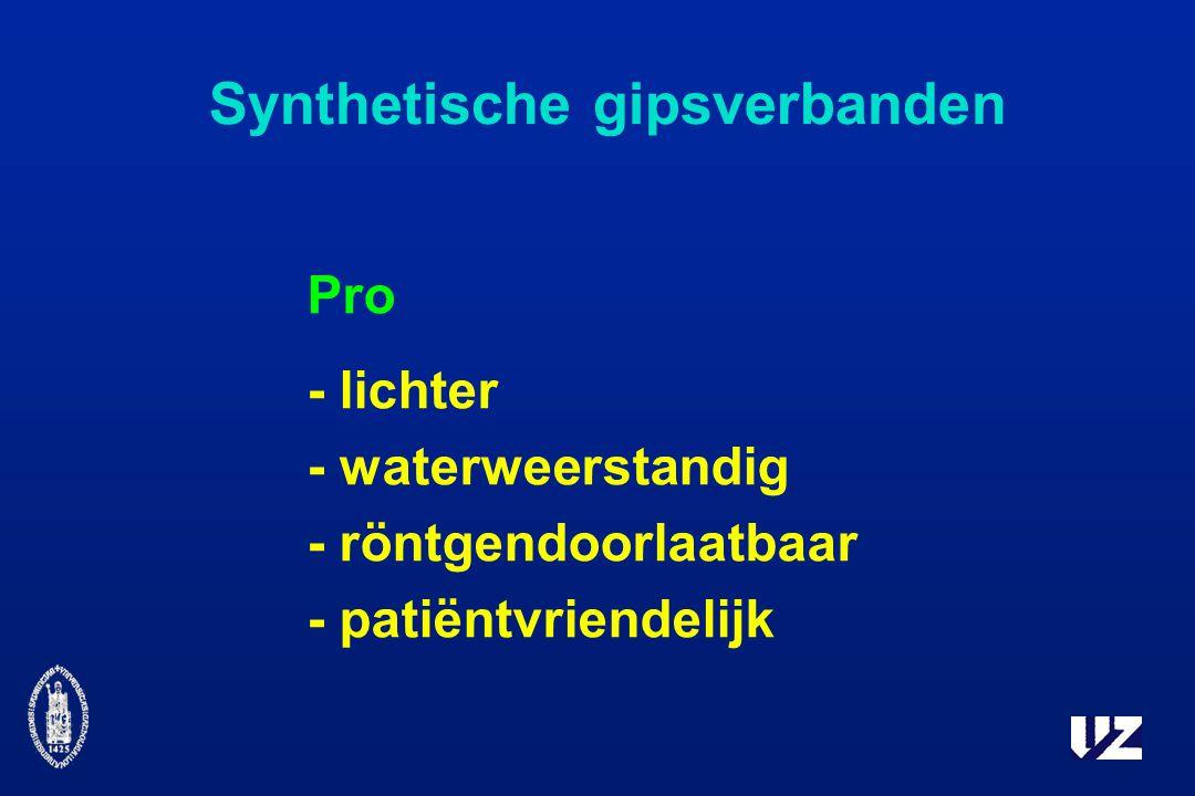 Synthetische gipsverbanden Pro - lichter - waterweerstandig - röntgendoorlaatbaar - patiëntvriendelijk