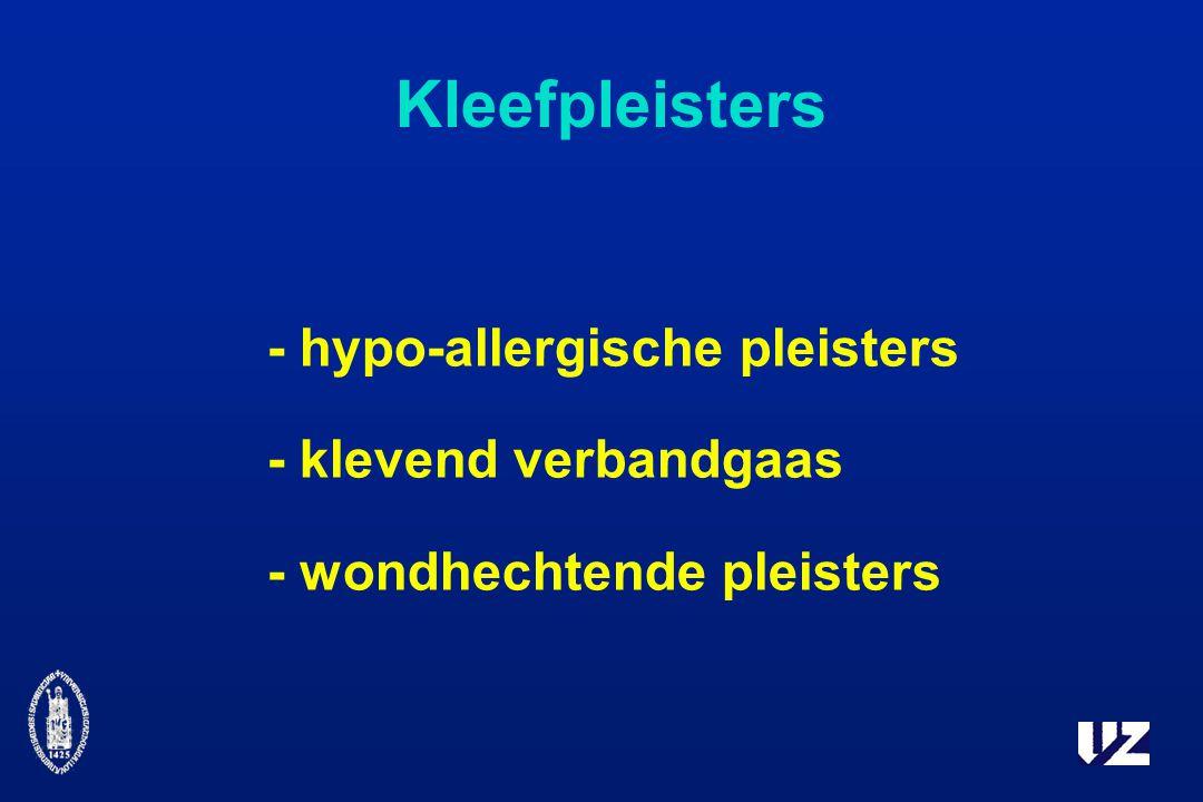 Kleefpleisters - hypo-allergische pleisters - klevend verbandgaas - wondhechtende pleisters