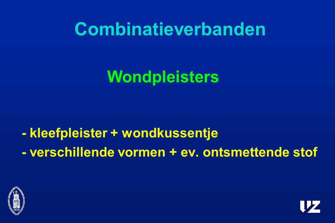 Combinatieverbanden Wondpleisters - kleefpleister + wondkussentje - verschillende vormen + ev.