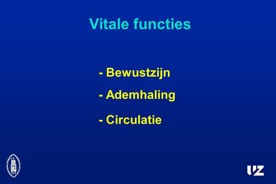 Vitale functies - Bewustzijn - Ademhaling - Circulatie