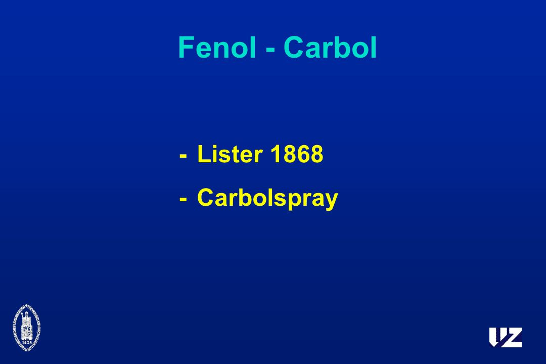 Fenol - Carbol -Lister 1868 -Carbolspray