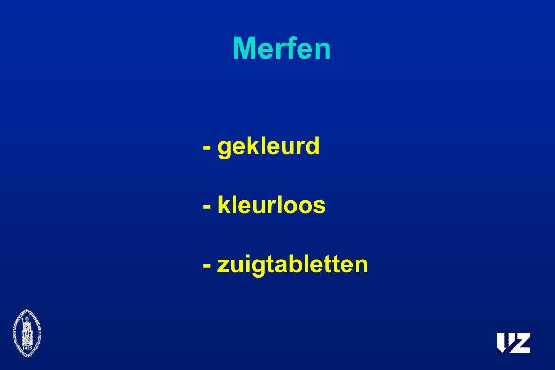 Merfen - gekleurd - kleurloos - zuigtabletten