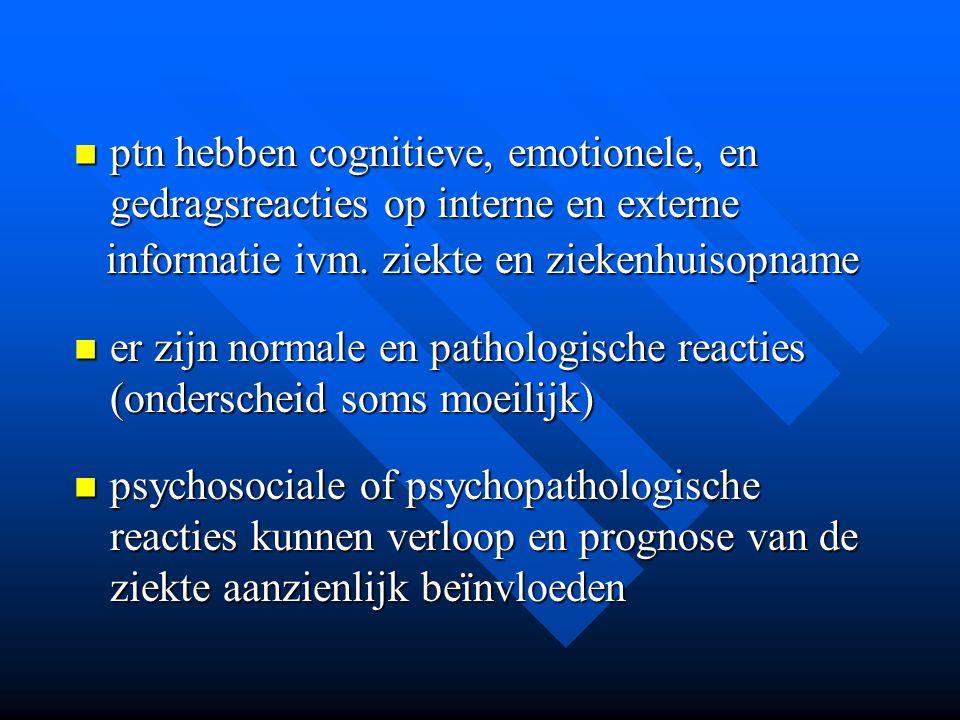 ptn hebben cognitieve, emotionele, en gedragsreacties op interne en externe ptn hebben cognitieve, emotionele, en gedragsreacties op interne en extern