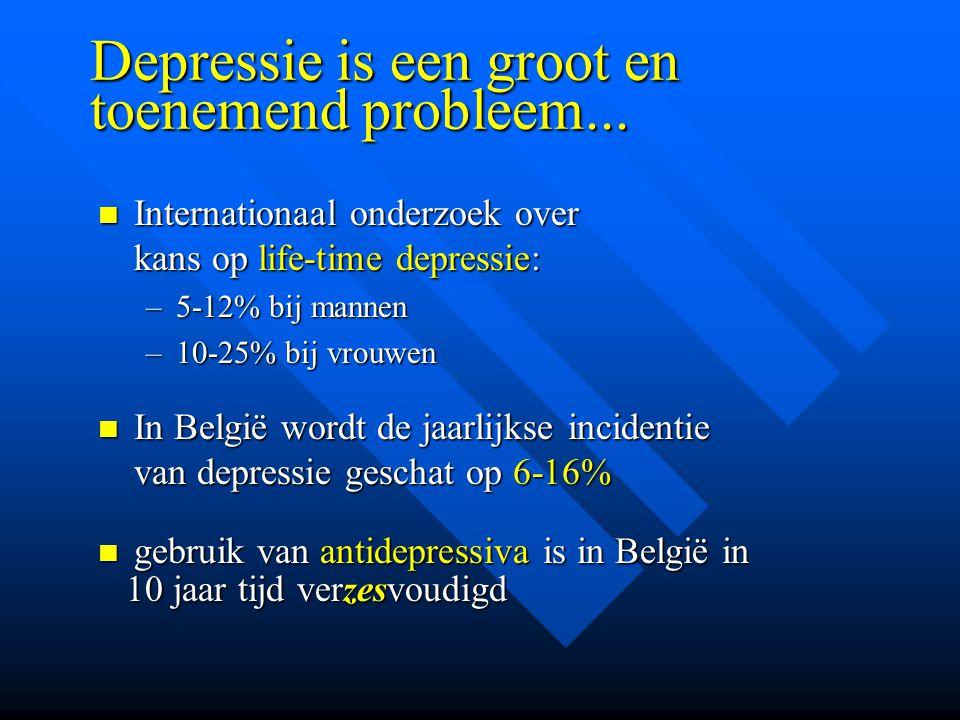Depressie is een groot en toenemend probleem... Internationaal onderzoek over kans op life-time depressie: Internationaal onderzoek over kans op life-
