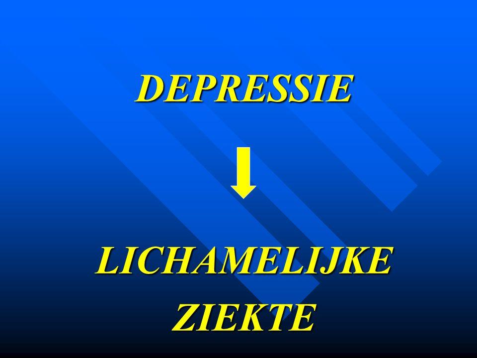 DEPRESSIE LICHAMELIJKE ZIEKTE