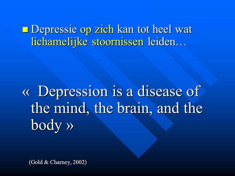 Depressie op zich kan tot heel wat lichamelijke stoornissen leiden… Depressie op zich kan tot heel wat lichamelijke stoornissen leiden… « Depression i