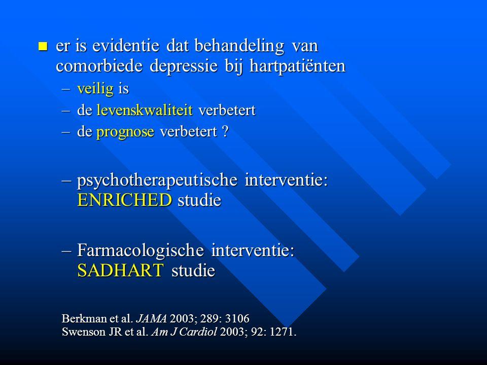 er is evidentie dat behandeling van comorbiede depressie bij hartpatiënten er is evidentie dat behandeling van comorbiede depressie bij hartpatiënten