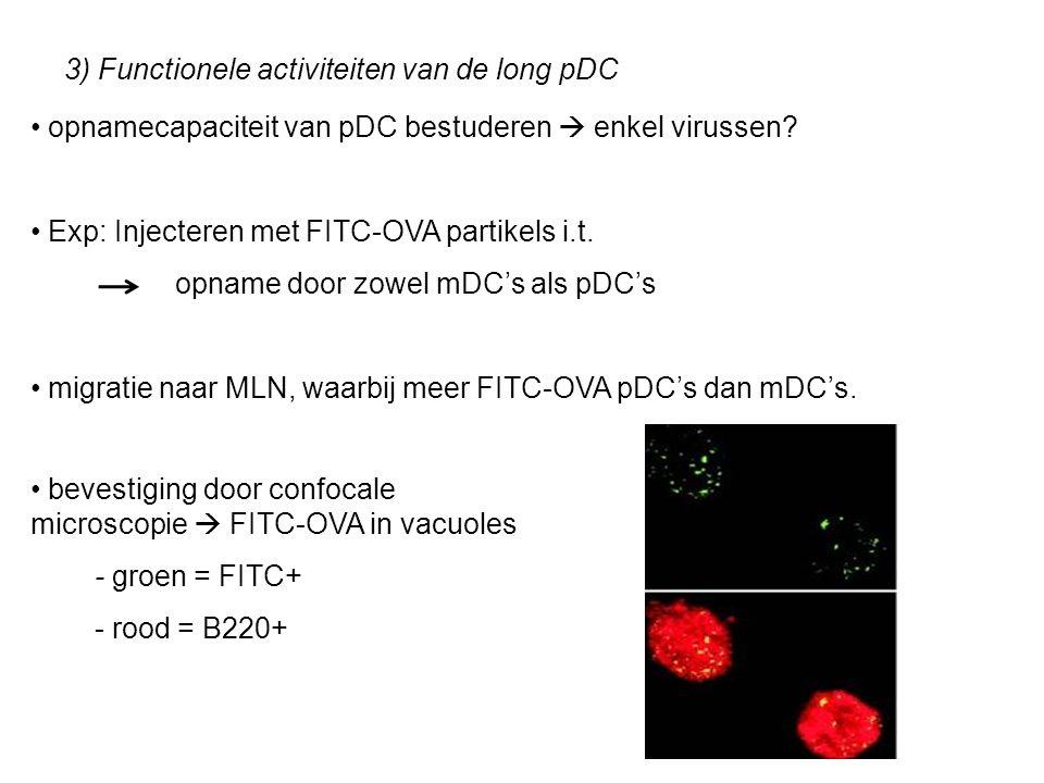 3) Functionele activiteiten van de long pDC opnamecapaciteit van pDC bestuderen  enkel virussen.