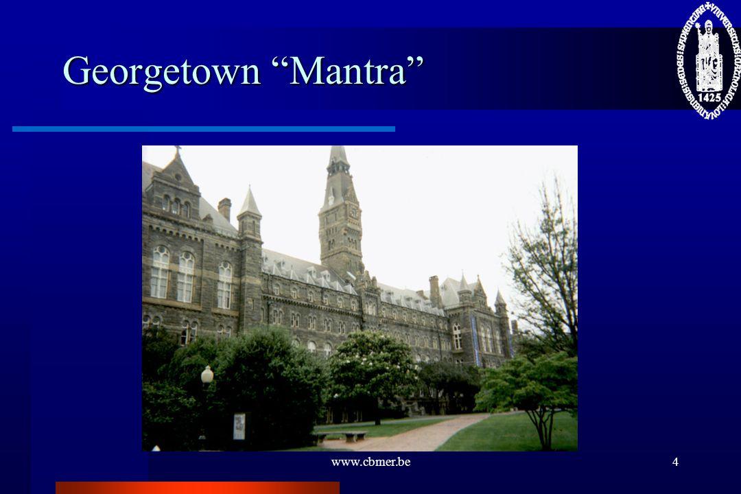 "www.cbmer.be4 Georgetown ""Mantra"""